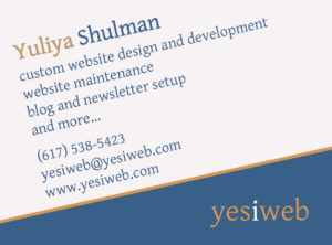 YesIWeb - custom web design and development