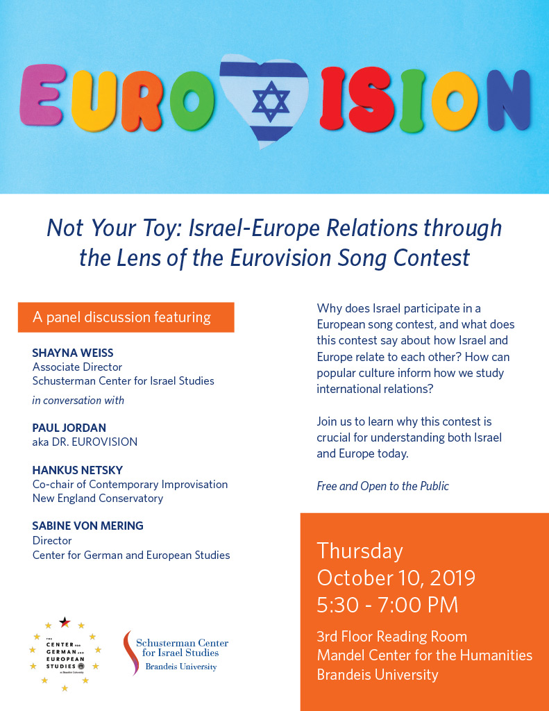 Not Your Toy: Israel-Europe Relations through the Lens of the Eurovision Song Contest