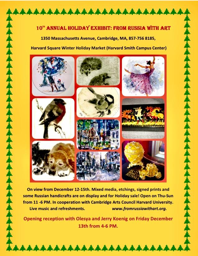 From Russia With Art Gallery 10th Annual Holiday exhibition & sale