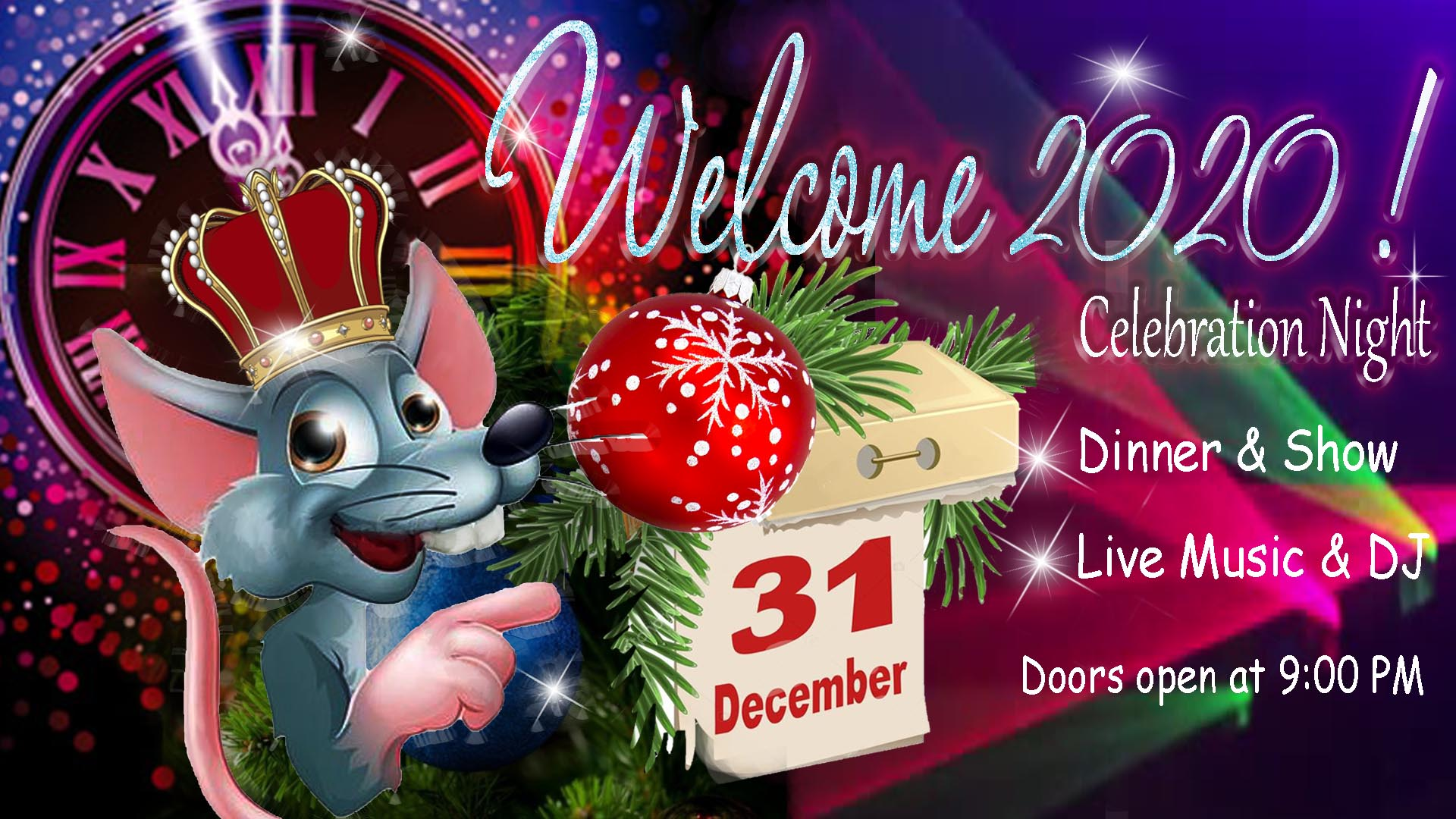 New Year Party hosted by His Mousiness King Silver